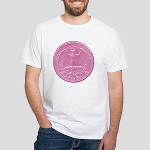 Pink Eagle Back Quarter White T-Shirt