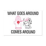 What Goes Around Mini Poster Print