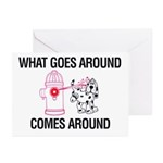 What Goes Around Greeting Cards (Pk of 10)