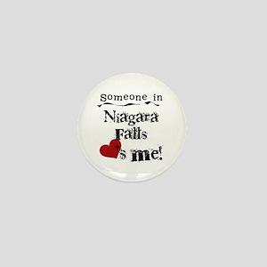 Niagara Falls Loves Me Mini Button