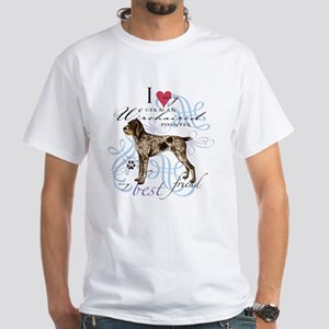 German Wirehaired Pointer White T-Shirt