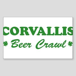 CORVALLIS beer crawl Rectangle Sticker
