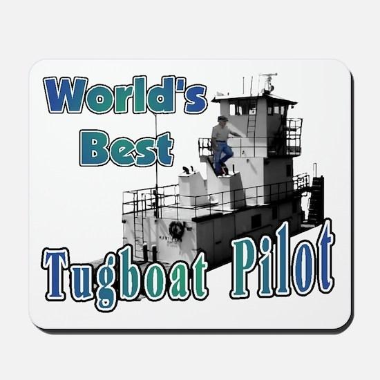 World's Best Tugboat Pilot t Mousepad