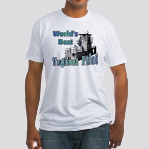 World's Best Tugboat Pilot t Fitted T-Shirt