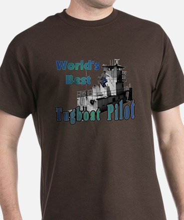 World's Best Tugboat Pilot t T-Shirt