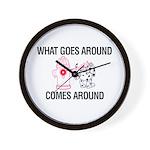 What Goes Around Wall Clock