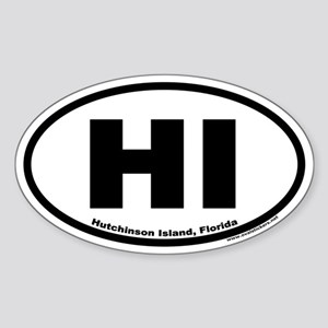 Hutchinson Island, Florida HI Euro Oval Sticker