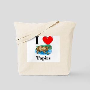 I Love Tapirs Tote Bag
