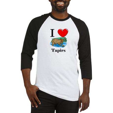I Love Tapirs Baseball Jersey