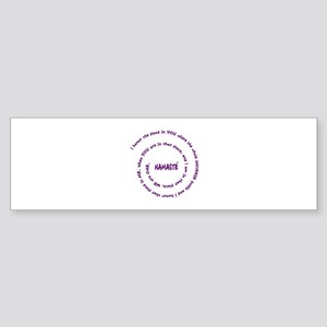 Namaste and its Meaning in Sacred Purple Sticker (