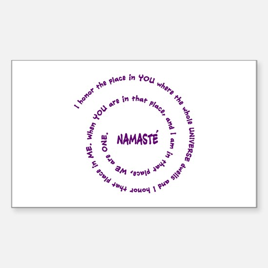 Namaste and its Meaning in Sacred Purple Decal