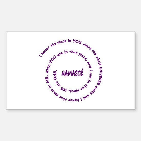 Namaste and its Meaning in Sacred Purple Stickers