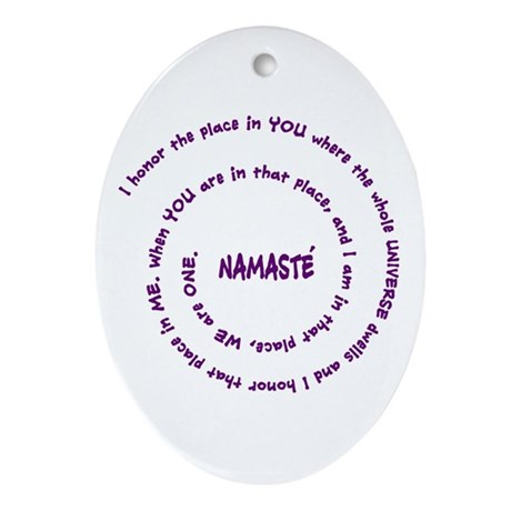 Namaste and its Meaning in Sacred Purple Ornament