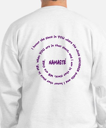 Namaste and its Meaning in Sacred Purple Sweatshir
