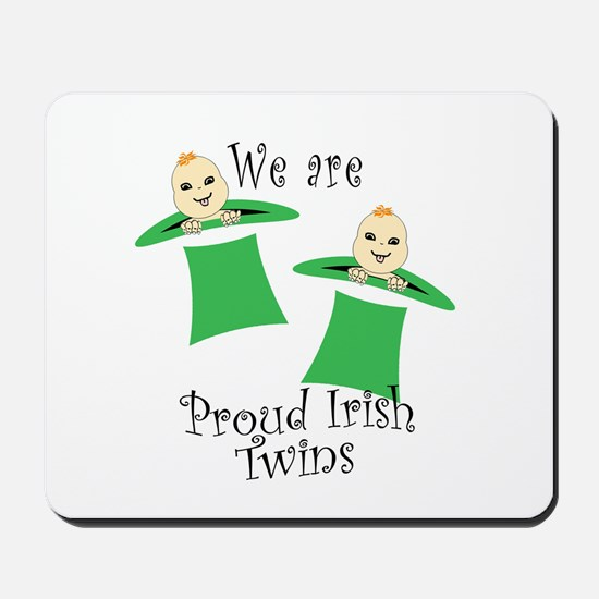 Proud Irish Twins Mousepad