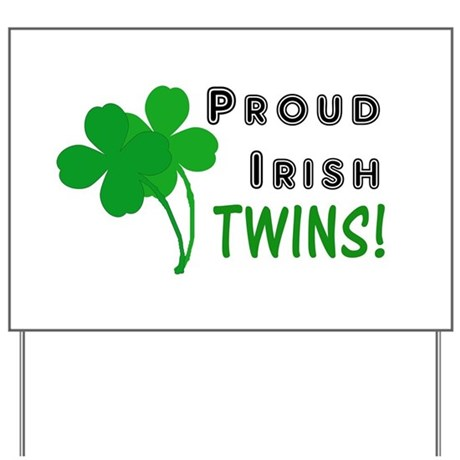 Irish Twins Yard Sign