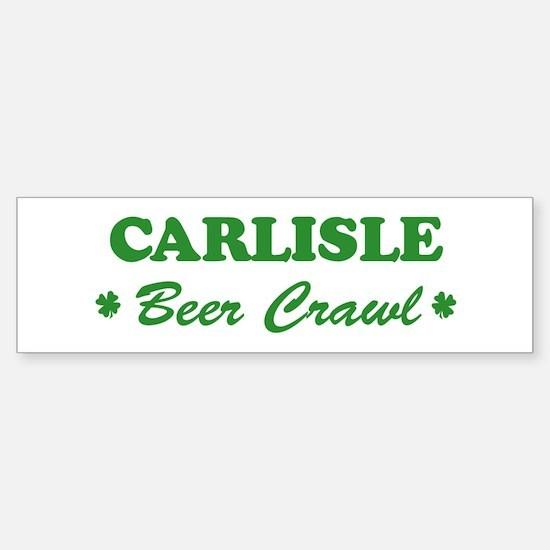 CARLISLE beer crawl Bumper Bumper Bumper Sticker