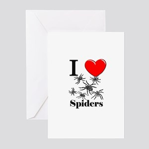 I Love Spiders Greeting Cards (Pk of 10)