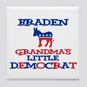 Braden - Grandma's Little Dem Tile Coaster