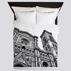 Il Duomo (black and white) Queen Duvet