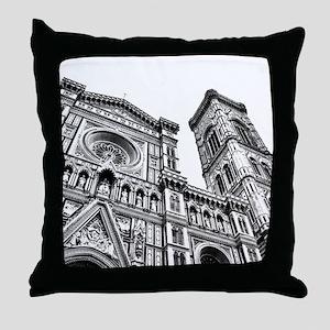 Il Duomo (black and white) Throw Pillow