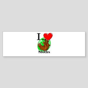 I Love Sloths Bumper Sticker