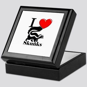 I Love Skunks Keepsake Box