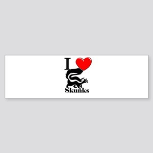 I Love Skunks Bumper Sticker