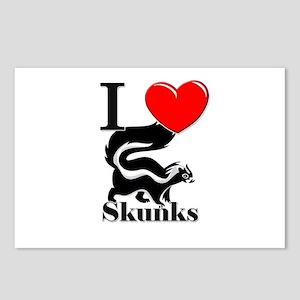 I Love Skunks Postcards (Package of 8)