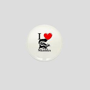 I Love Skunks Mini Button