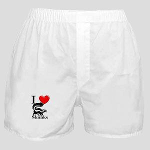 I Love Skunks Boxer Shorts