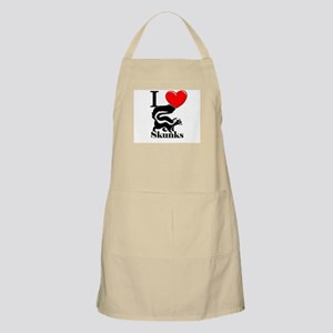 I Love Skunks BBQ Apron