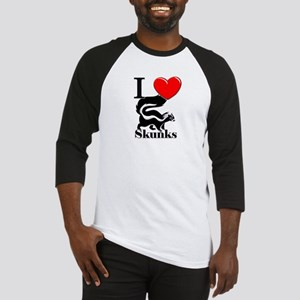 I Love Skunks Baseball Jersey