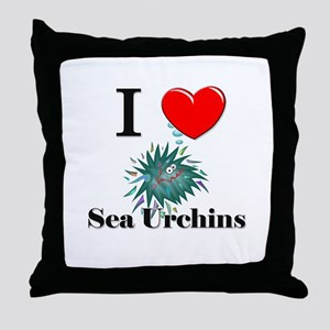 I Love Sea Urchins Throw Pillow