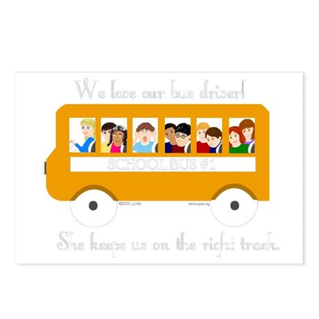 Bus Driver - The Right Track Postcards (Package of
