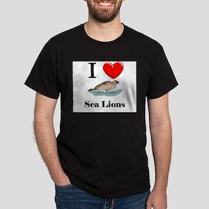 I Love Sea Lions Dark T-Shirt