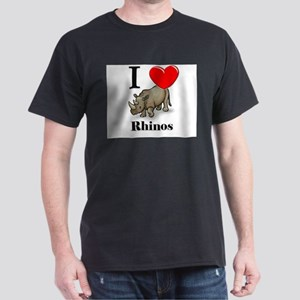 I Love Rhinos Dark T-Shirt