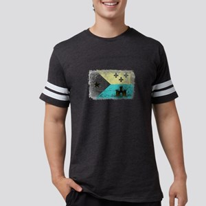 Vintage Grunge Acadian Flag T-Shirt