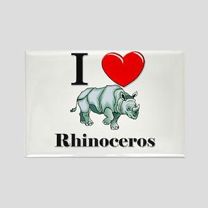 I Love Rhinoceros Rectangle Magnet