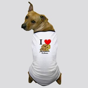 I Love Reticulated Pythons Dog T-Shirt