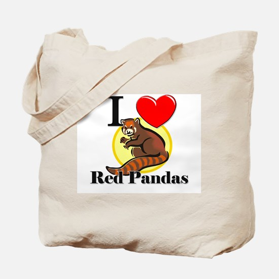 I Love Red Pandas Tote Bag