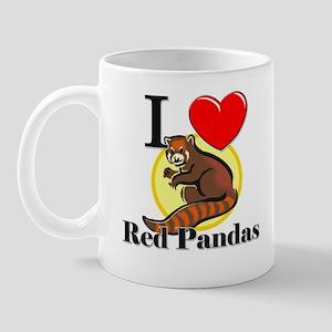I Love Red Pandas Mug