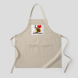 I Love Red Pandas BBQ Apron