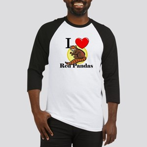 I Love Red Pandas Baseball Jersey