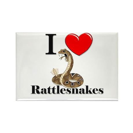 I Love Rattlesnakes Rectangle Magnet (10 pack)