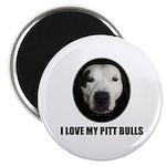 I LOVE MY PITT BULLS Magnet