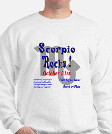 Scorpio October 31st Sweatshirt