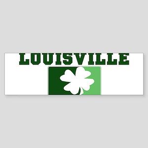 LOUISVILLE Irish (green) Bumper Sticker