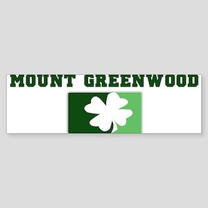 MOUNT GREENWOOD Irish (green) Bumper Sticker