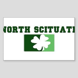 NORTH SCITUATE Irish (green) Rectangle Sticker